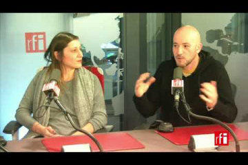 Myriam Meloni y Jean-Michel André  con Jordi Batallé en RFI