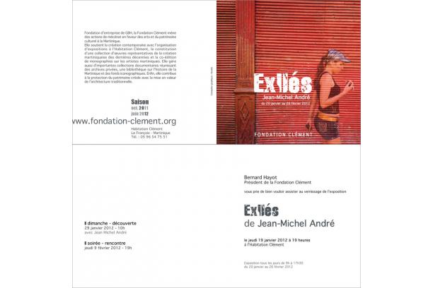 Invitation de l'exposition /// Exilés